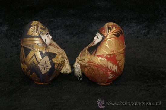 Arte: Pareja de muñecas orientales, con cabeza de celuloide, y trapo. - Foto 5 - 32462300