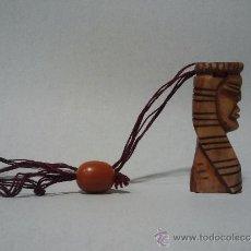 Arte: INTERESANTÍSIMO COLGANTE AFRICANO DE HUESO.. Lote 32993125