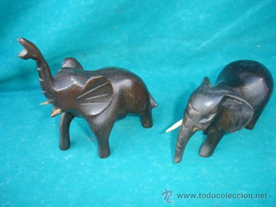 Arte: 2 tallas de elefantes africanos - Foto 2 - 33664047