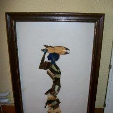 Arte: FANTASTICO CUADRO AFRICA. MUJER AFRICANA CON ALAS DE MARIPOSA.. Lote 34191391