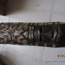 Arte: MASCARA AFRICANA MADERA NOBLE, UNOS 50X20 CMS. Lote 34736985