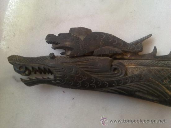 Arte: cerbatana de hueso tallado de oceania - Foto 10 - 36599029