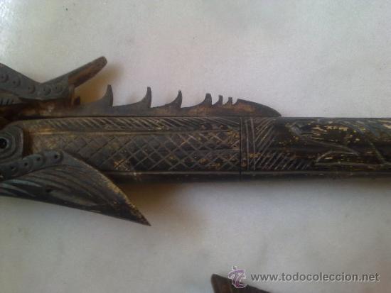 Arte: cerbatana de hueso tallado de oceania - Foto 11 - 36599029