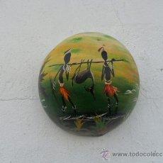 Arte: PINTURA EN CALABAZA AFRICANA. Lote 36712495