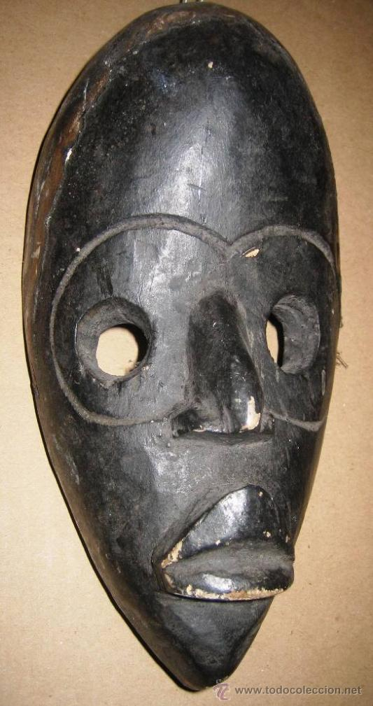 MÁSCARA DAN EN MADERA (COSTA DE MARFIL) (Arte - Étnico - África)