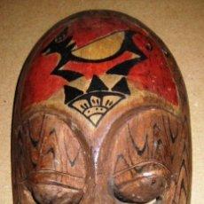 Arte: PEQUEÑA MÁSCARA AFRICANA EN MADERA POLICROMADA. Lote 36834007