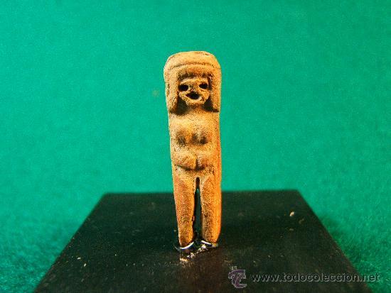 AMULETO DE LA CULTURA VALDIVIA - VENUS - PERU/ECUADOR - 2,5X0,7X0,7 CM - 4.400/1.700 AÑOS A.C. (Arte - Étnico - América)