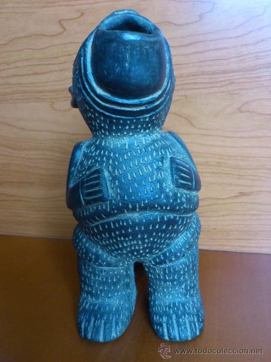 Arte: Sahumador de terracota negra ( Mono Andino Indigena ) sellado, S.XIX - Foto 3 - 37287913