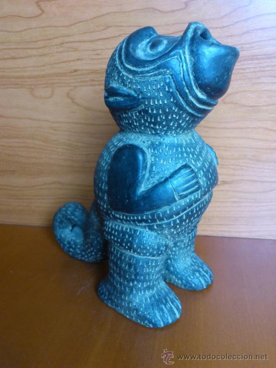 Arte: Sahumador de terracota negra ( Mono Andino Indigena ) sellado, S.XIX - Foto 4 - 37287913