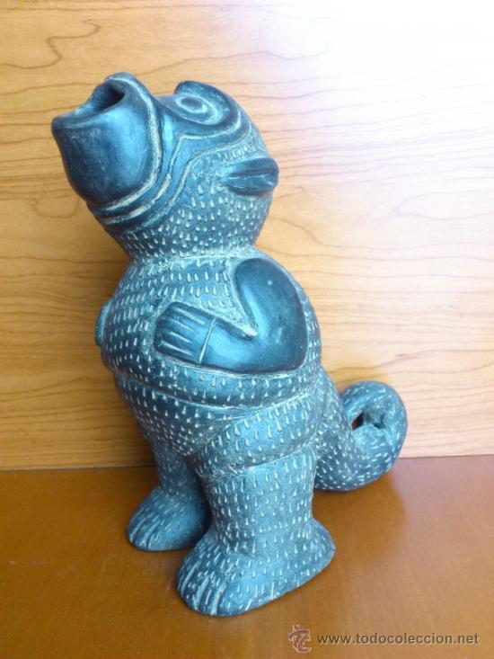 Arte: Sahumador de terracota negra ( Mono Andino Indigena ) sellado, S.XIX - Foto 11 - 37287913