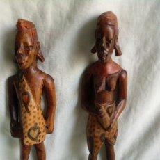 Arte: 2 TALLAS EN MADERA AFRICANAS . Lote 37963248