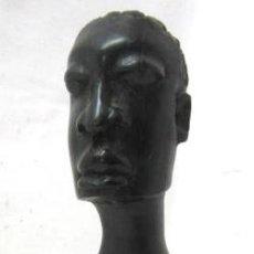 Arte: MUJER AFRICANA TALLA MADERA DE EBANO ANTIGUA. Lote 38371359