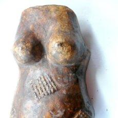 Arte: MAKONDE PREGNANT BODY MASK , TANZANIA - TALLA DE MADERA PARA LA FERTILIDAD. Lote 39115488