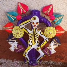 Arte: CANDELABRO ESQUELETO PARA ALTAR MEXICANO - NUEVO -. Lote 38572530