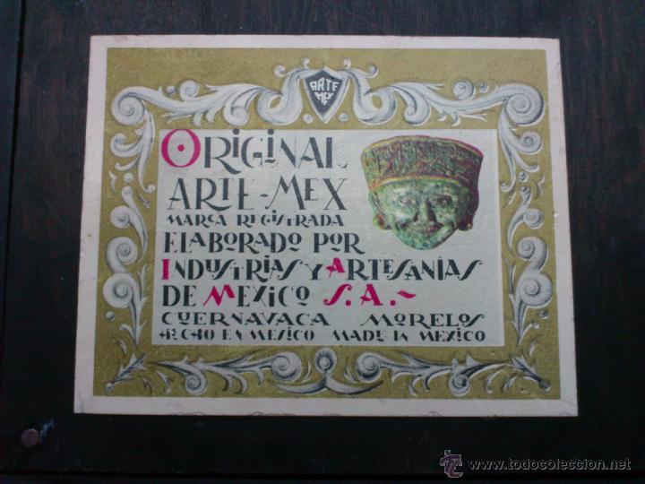Arte: Original cuadro ARTE MEX ( ARTESANIAS DE MEXICO, CUERNAVACA ) - Foto 12 - 39532108