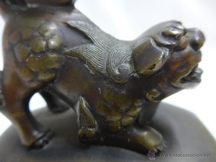Arte: Preciosa quimera oriental en bronce, antigua, de principios s.XX. China - Foto 5 - 47643879