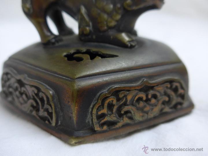 Arte: Preciosa quimera oriental en bronce, antigua, de principios s.XX. China - Foto 6 - 47643879