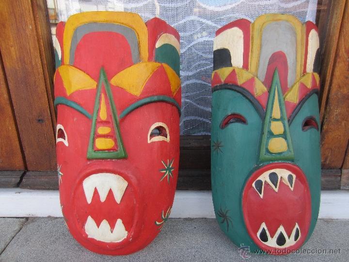 MASCARAS DE MADERA (Arte - Étnico - África)