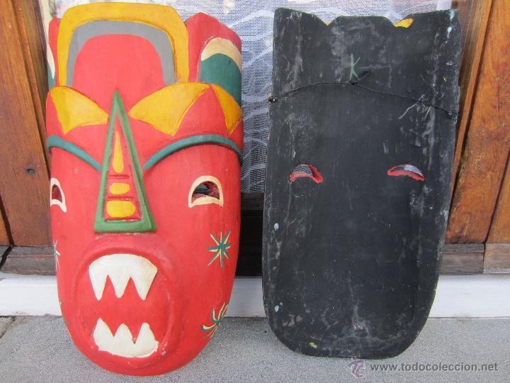 Arte: mascaras de madera - Foto 2 - 150979264