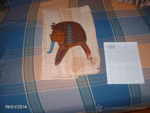 PAPIRO DEL NILO. SE VENDÍAN A LOS TURISTAS EN LOS AÑOS 80. CON CERTIFICADO DE QUE ES PAPIRO ORIGINAL (Arte - Étnico - África)