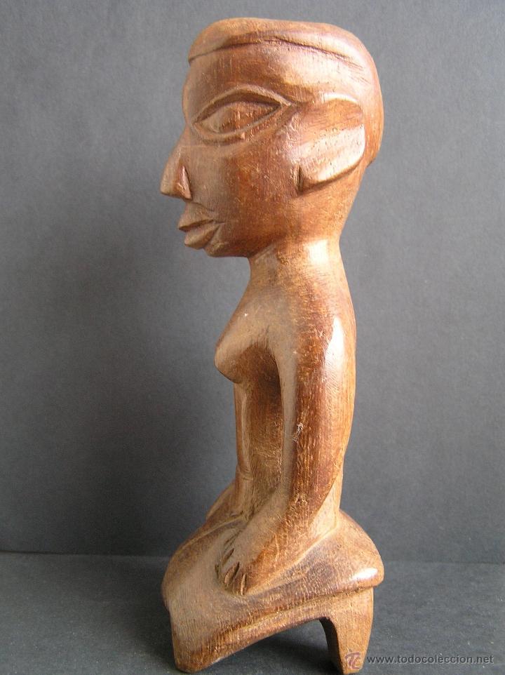 TALLA TRIBAL DE MADERA AFRICANA. FIGURA-ÍDOLO . (Arte - Étnico - África)