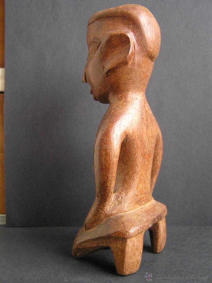 Arte: TALLA TRIBAL DE MADERA AFRICANA. figura-ídolo . - Foto 2 - 41087251