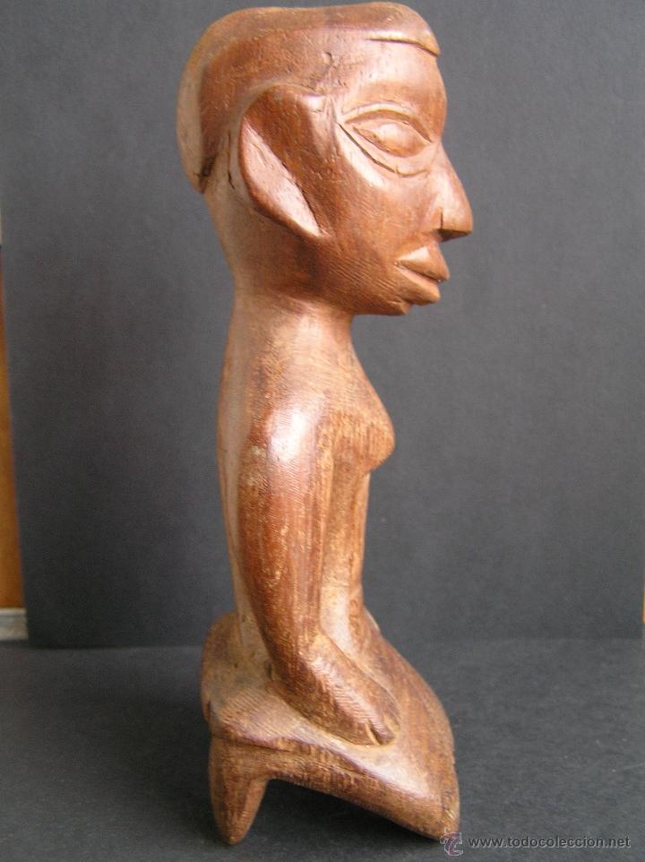 Arte: TALLA TRIBAL DE MADERA AFRICANA. figura-ídolo . - Foto 5 - 41087251