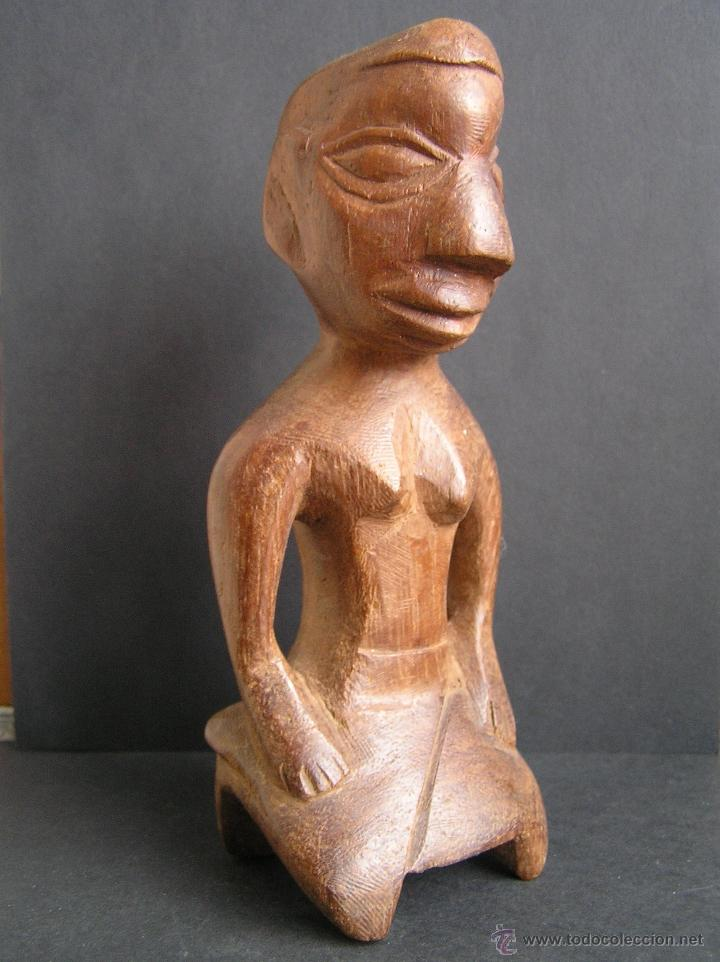 Arte: TALLA TRIBAL DE MADERA AFRICANA. figura-ídolo . - Foto 6 - 41087251