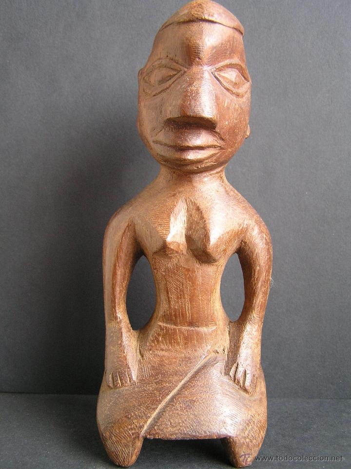 Arte: TALLA TRIBAL DE MADERA AFRICANA. figura-ídolo . - Foto 7 - 41087251