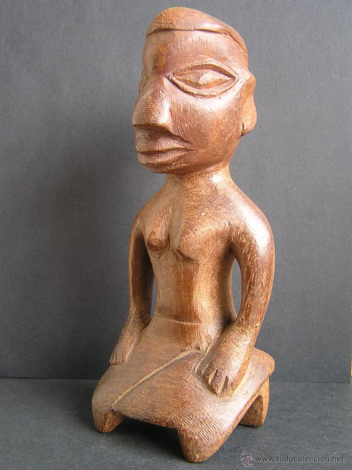 Arte: TALLA TRIBAL DE MADERA AFRICANA. figura-ídolo . - Foto 8 - 41087251