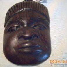 Arte: PEQUEÑA ESCULTURA EN MADERA - CARA AFRICANO - . Lote 41284358