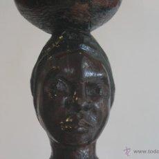Arte: FIGURA AFRICANA DE MADERA. Lote 41583329