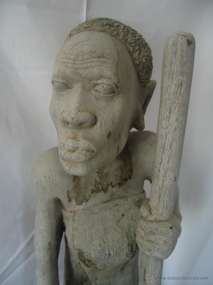 Arte: GRAN ESCULTURA FIGURA MUJER AFRICA MADERA TALLADA Y TRATADA - Foto 2 - 42517137