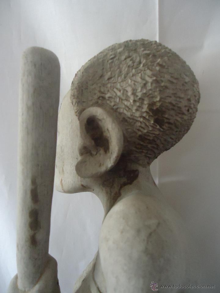 Arte: GRAN ESCULTURA FIGURA MUJER AFRICA MADERA TALLADA Y TRATADA - Foto 11 - 42517137