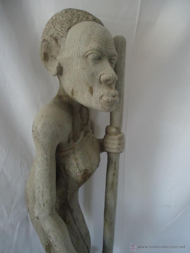 Arte: GRAN ESCULTURA FIGURA MUJER AFRICA MADERA TALLADA Y TRATADA - Foto 12 - 42517137