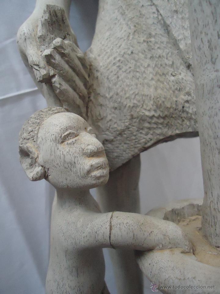 Arte: GRAN ESCULTURA FIGURA MUJER AFRICA MADERA TALLADA Y TRATADA - Foto 14 - 42517137