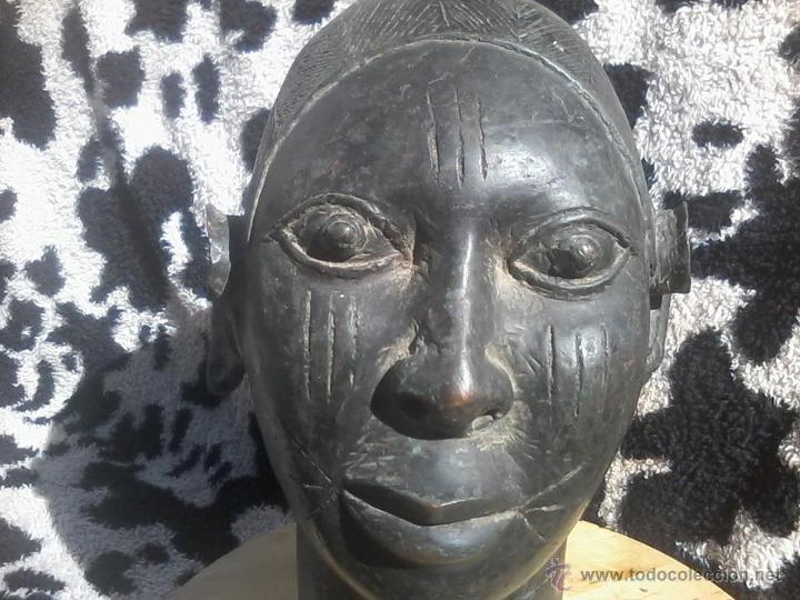 CABEZA BRONCE IFE BENIN PERSONAJE REAL (Arte - Étnico - África)