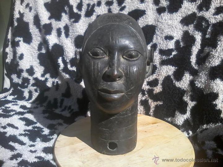 Arte: CABEZA BRONCE IFE BENIN PERSONAJE REAL - Foto 2 - 42522147