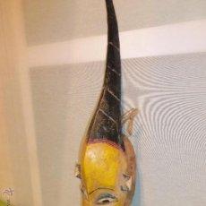 Arte: ANTIGUA Y ORIGINAL MÁSCARA AFRICANA DE COSTA DE MARFIL - MUY BIEN TRABAJADA Y DECORATIVA. Lote 42690131