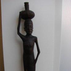 Arte: FIGURA AFRICANA DE MADERA DE EBANO. ZINVAGUE. ZIMBABWE. AÑOS 50. Lote 43503048