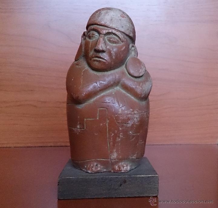 DURMIENTE. RECIPIENTE DE BARRO. CULTURA DE MOCHE. MÉJICO. 500 AÑOS ANTES DE CRISTO (Arte - Étnico - América)