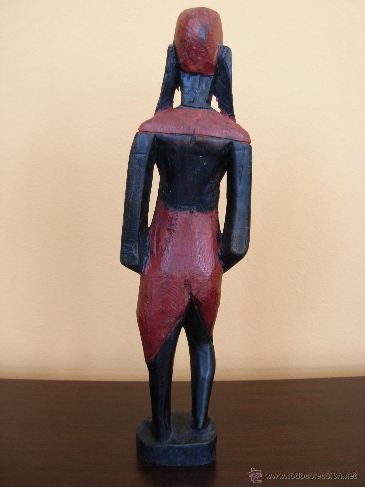 Arte: Talla de madera policromada africana - Foto 2 - 44103226