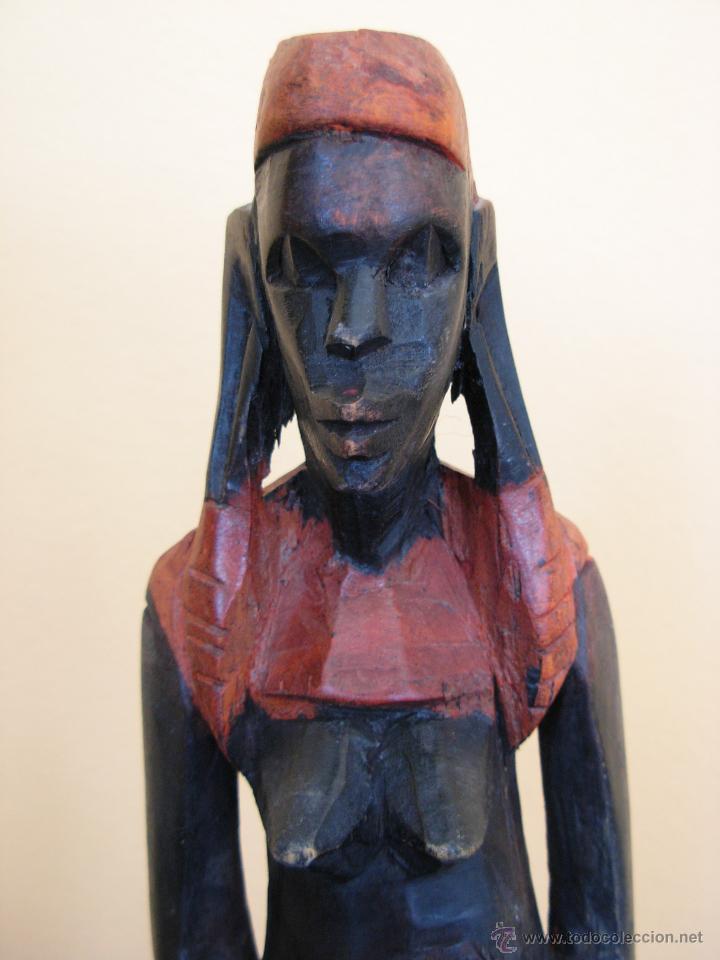 Arte: Talla de madera policromada africana - Foto 3 - 44103226