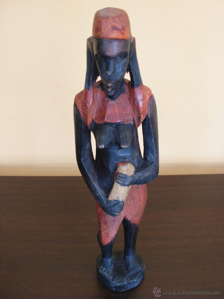 Arte: Talla de madera policromada africana - Foto 6 - 44103226