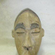 Arte: ANTIGUA MASCARA AFRICANA DE TRIBU, DE MADERA TALLADA, SEGURAMENTE DE NIGERIA, AFRICA. Lote 44198177