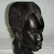 Arte: FIGURA DE ARTE TRIBAL AFRICANO. TALLADA A MANO. MADERA.. Lote 44268380
