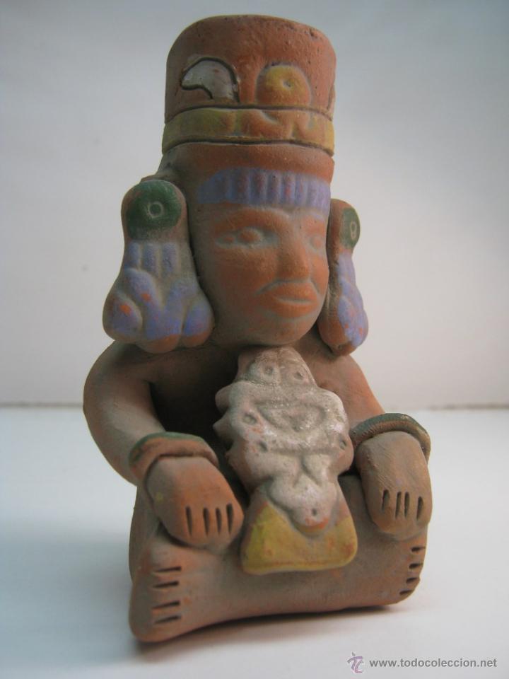 REPLICA FIGURA CHAMAN PRECOLOMBINA FIRMADA AUT INAH R.I. 134 MEXICO MAYA AZTECA (Arte - Étnico - América)