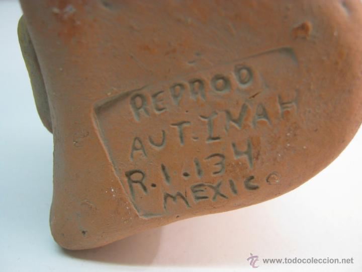 Arte: replica figura Chaman precolombina firmada Aut Inah R.I. 134 Mexico Maya Azteca - Foto 3 - 44304136