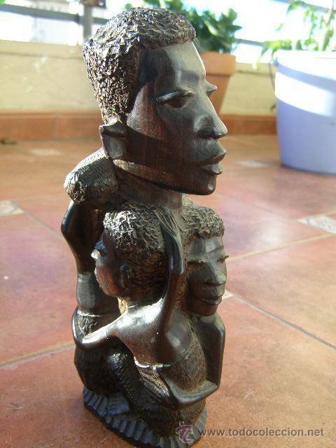 EXTRAORDINARIA TALLA EN EBANO. MAKONDO. TANZANIA. EL ARBOL DE LA VIDA. MEDIADOS SIGLO XX (Arte - Étnico - África)