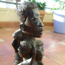 Arte: EXTRAORDINARIA TALLA EN EBANO. MAKONDO. TANZANIA. EL ARBOL DE LA VIDA. MEDIADOS SIGLO XX. Lote 45128680